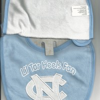North Carolina Tar Heels Bibs UNC Infant Baby Bib 2 Piece Set