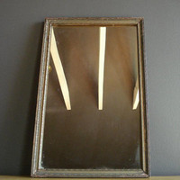 Pretty Carved Mirror - Large Ornate Framed Vintage Mirror - Antique Rectangle Framed Mirror