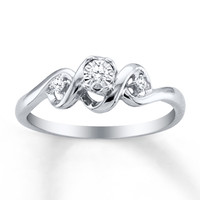 HEARTessence Ring 1/15 ct tw Diamonds Sterling Silver