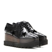 Elyse platform derby shoes