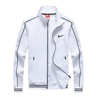 NIKE Fashion Stripe Cardigan Jacket Coat