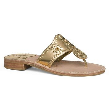 Hamptons Jack Sandal in Gold by Jack Rogers