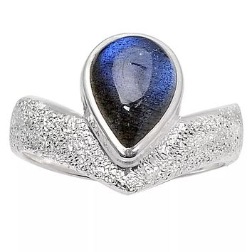 Labradorite Sterling Shimmering alights Ring