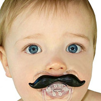 Mustache Pacifier 2 Pack For Babies and Toddlers BPA Free High Grade Silicone Premium Quality Makes a Great Baby Shower Gift