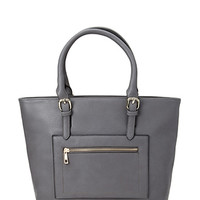 FOREVER 21 Textured Faux Leather Tote