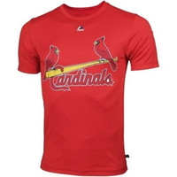 ST.LOUIS CARDINALS CARDS Majestic Cool Base CREW NECK SHIRT Officially Licensed MLB Baseball SIZE-ADULT MEDIUM