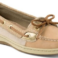 Sperry Top-Sider Angelfish Fishscale Slip-On Boat Shoe Cognac/Gold, Size 7.5M  Women's Shoes