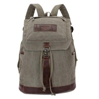 canvas men's daily travel duffle backpacks for laptop Korean style vogue hipster versatile youth school bag 1284
