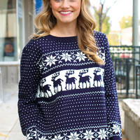 Kaitlyn's Cozy Sweater - Navy