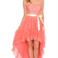 Dress with Lace Bodice and Tendril Skirt