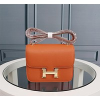 HERMES WOMEN'S LEATHER CONSTANCE INCLINED SHOULDER BAG