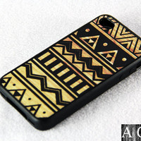 Wood Seamless iPhone 4 iPhone 4S Case, Rubber Material Full Protection