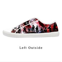 Custom Hot Japanese Anime Attack on Titan Women's Canvas Shoes Fashion Shoes for Women