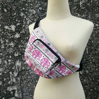 Pink Fanny pack Elephant Boho Styles belt Bag Pouch Travel hip sack phanny waist Gypsy Hipster for Festival cycling travel men women fashion