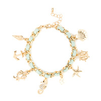 Seaside Charm Bracelet - Mint