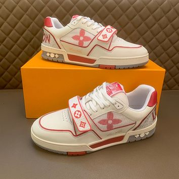 LV Louis Vuitton Men's And Women's 2021 NEW ARRIVALS Trainer Low Top Sneakers Shoes