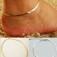 pc Women Girls Silver/Gold Chain Ankle Bracelet Anklet Foot Jewelry Beach [10586379924]