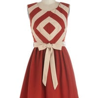 ModCloth Mid-length Sleeveless A-line Foremost Finesse Dress