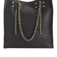 Chain Detail Tote Bag: Charlotte Russe