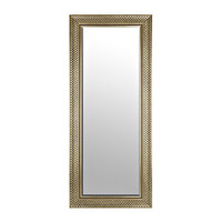 Champagne Paver Framed Mirror, 33.25 x 79.25