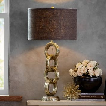 INTERLACED GOLD CHAIN TABLE LAMP BASE
