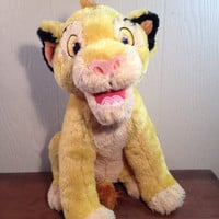 Walt Disney's Lion King Large Talking Simba Plush, Simba, Plush Lion, Lion King Toys, 1990s, Lion King, Talking Plush, Lion Guard