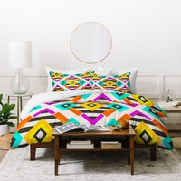 Elisabeth Fredriksson Colorful Diamonds Duvet Cover