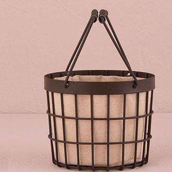 Rustic Wire Rimmed Basket