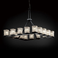 Justice Design Group GLA861526CLRTDB Veneto Luce Montana 16-Light Dark Bronze Ring Chandelier - (In Dark Bronze)