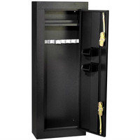 Heavy Gauge Steel 8-Rifle Shotgun Security Cabinet Gun Safe in Black