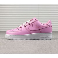 Nike Air Force 1 New Popular Women Comfortable Pink Low Top Flat Sport Running Shoes Sneakers I-A-FJGJXMY