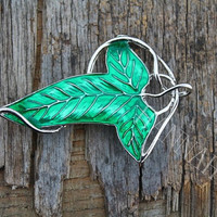 The Lord of the Rings Demon Legolas Green Leaf brooch