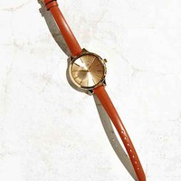 Breda Slim Leather Strap Watch