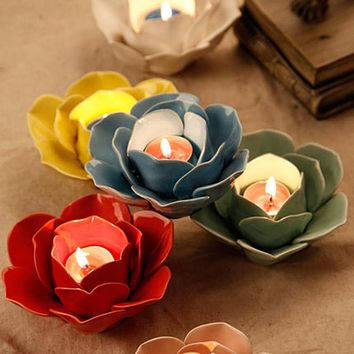 Metal Glass Candle Holder Glass