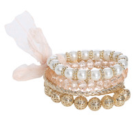 Pearl  Filigree Bangle Set | Shop Jewelry at Wet Seal