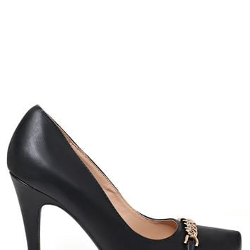 Chain Detail High Heel Shoes In