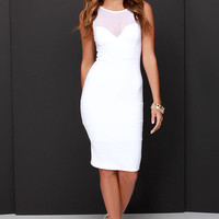 Forever Sweethearts Ivory Bodycon Dress