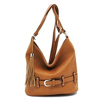 Fashion Belted Bucket Crossbody Bag