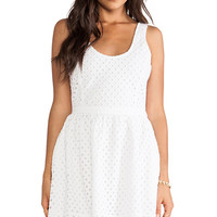 Joie Natrina Diamond Eyelent Dress in White