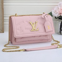 Louis Vuitton LV embossed logo flap handbag shoulder bag