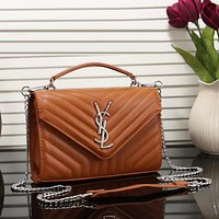 YSL Yves Saint laurent Women Fashion Leather Chain Satchel Shoulder Bag Handbag Crossbody