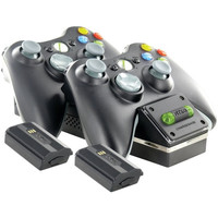 Nyko 86074 Xbox 360 Dual Controller Charge Base Black