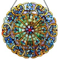 River of Goods Stained Glass Webbed Heart 22-inch Window Panel | Overstock.com Shopping - The Best Deals on Stained Glass Panels