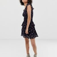 Wild Honey tea dress with shirred waist in floral | ASOS