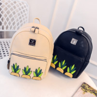 The New Csual Printing Pineapple backpack School Bag