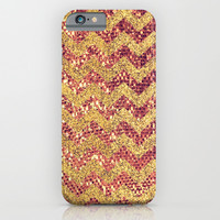 ROSE GOLD CHEVRON - for iphone iPhone & iPod Case by Simone Morana Cyla