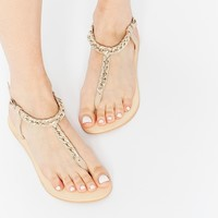ASOS FIELD DAY Leather Flat Sandals