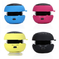 4 Colors Portable pocket Mini Hamburger Speaker for iPhone iPad iPod Laptop PC MP3 Audio Amplifier V507 = 1646040004
