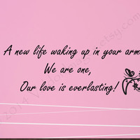 Love everlasting wall decal, decal, wall graphic , typography, butterfly vinyl decal, wall words sticker, love qoutes, vinyl graphic image