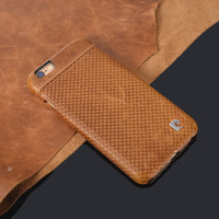 """Stylish Brown Genuine Leather Hard Case For iPhone 6 6G 4.7"""" Fashion Ultra Thin Slim Back Cover Free Shipping"""